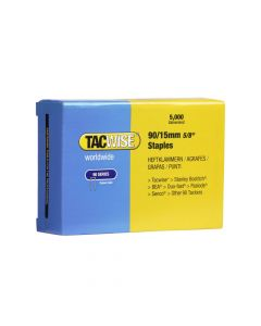Tacwise Type 90 - 15mm Narrow Crown Staples (5,000 Pack) - 0306