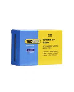 Tacwise Type 90 - 20mm Narrow Crown Staples (5,000 Pack) - 0307