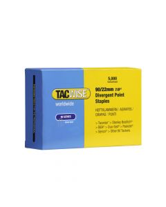Tacwise Type 90 - 22mm Narrow Crown Divergent Point Staples (5,000 Pack) - 0313
