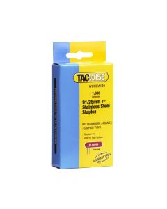 Tacwise Type 91 - 25mm Stainless Steel Staples (1,000 Pack) - 1071