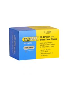 Tacwise Type CT-45 - 8mm White Cable Staples (5,000 Pack) - 0980