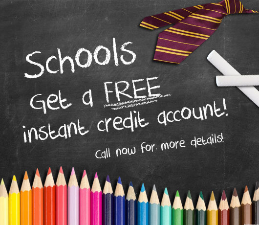 Schools Get a FREE Credit Account