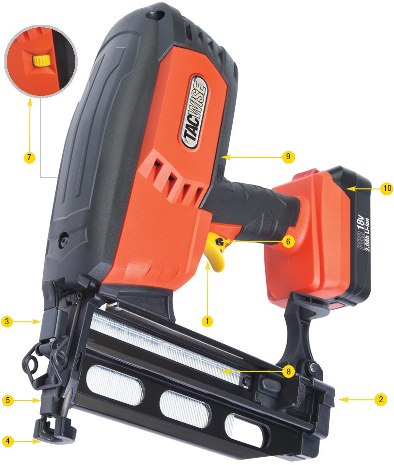 Battery 16G Finish Nailer